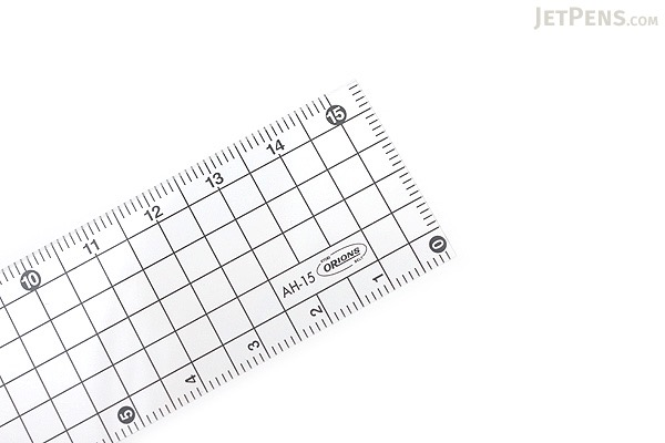 Kyoei Orions Grid Ruler - 15 cm - Smoke - KYOEI AH-15-SU
