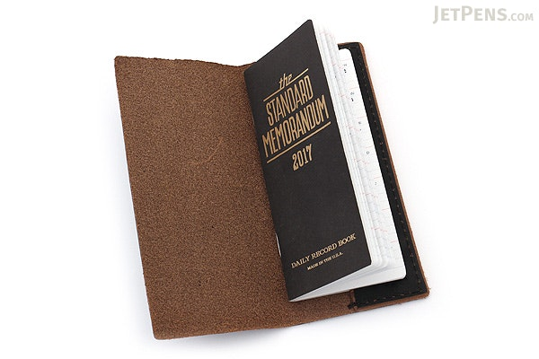 Word Notebooks Standard Memorandum Leather Cover - Black - WORD NOTEBOOKS W-MEMOR-BLKJACK