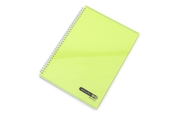 Maruman Sept Couleur Notebook - A4 - 7 mm Rule - Green - MARUMAN N570A-03