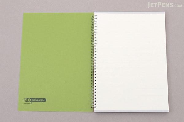 Maruman Sept Couleur Notebook - A4 - 7 mm Rule - Green - MARUMAN N570B-03