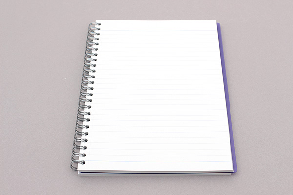 Maruman Sept Couleur Notebook - A5 - 7 mm Rule - Purple - MARUMAN N572B-10