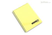 Maruman Sept Couleur Notebook - A5 - 7 mm Rule - Yellow - MARUMAN N572B-04