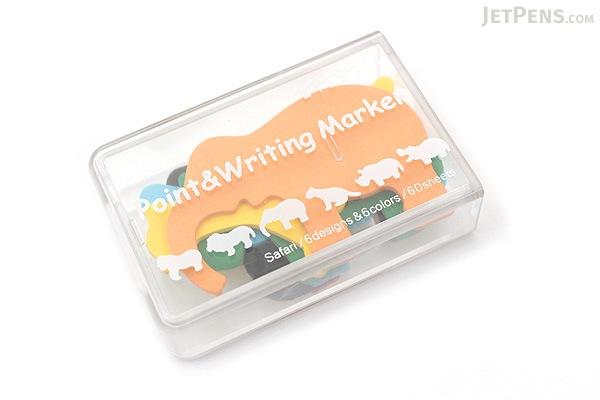 Midori Point & Writing Marker Die-Cut Sticky Notes - Safari - MIDORI 11381006