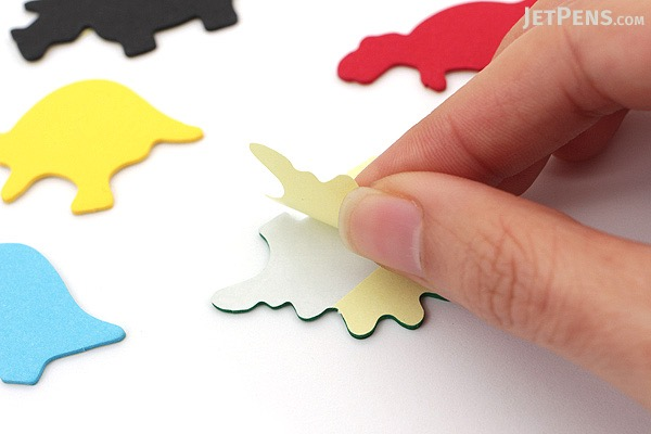 Midori Point & Writing Marker Die-Cut Sticky Notes - Dinosaurs - MIDORI 11383006
