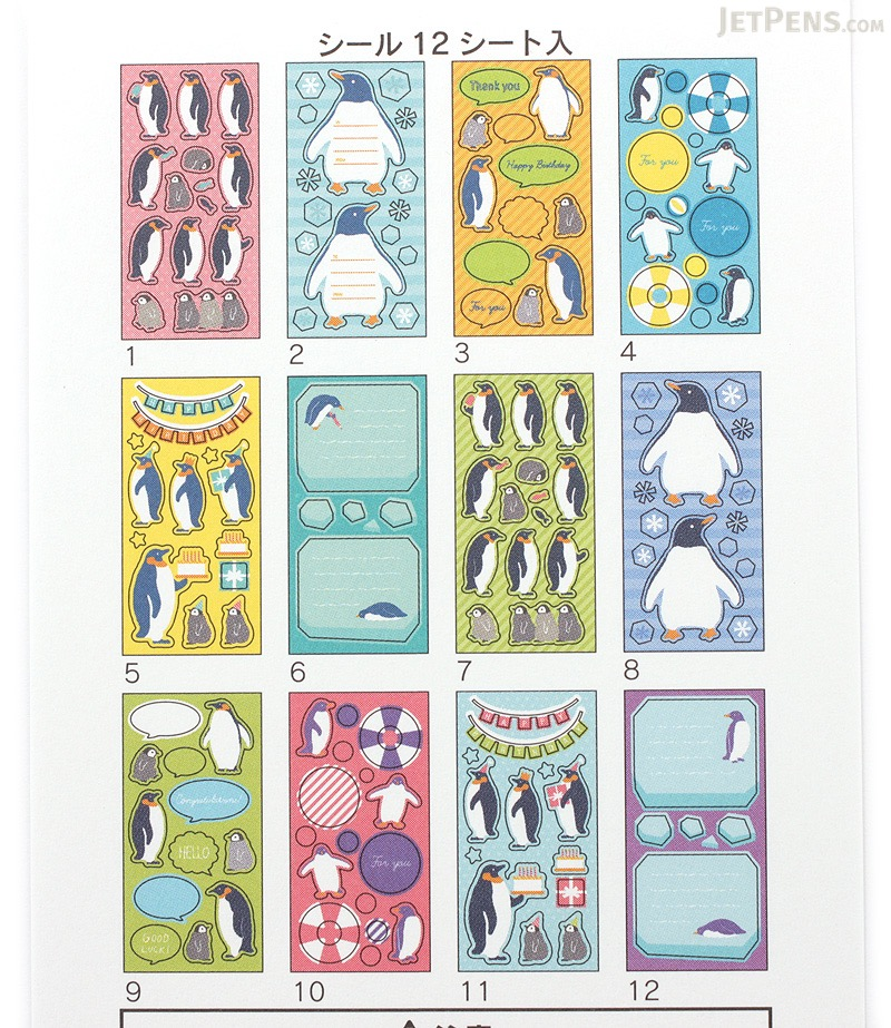 Midori Seal Book Stickers - Penguins - MIDORI 84596006