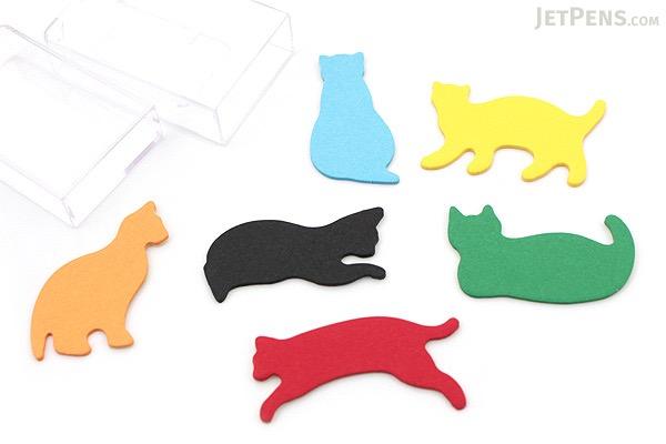 Midori Point & Writing Marker Die-Cut Sticky Notes - Cats - MIDORI 11380006