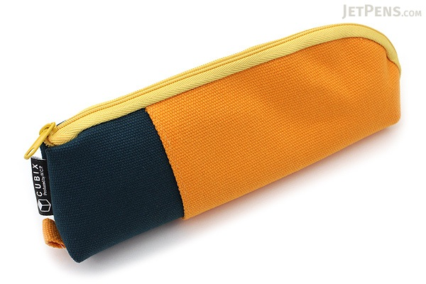 Cubix Two Tone Pen Case - Yellow / Dark Green - CUBIX 106164-03-80