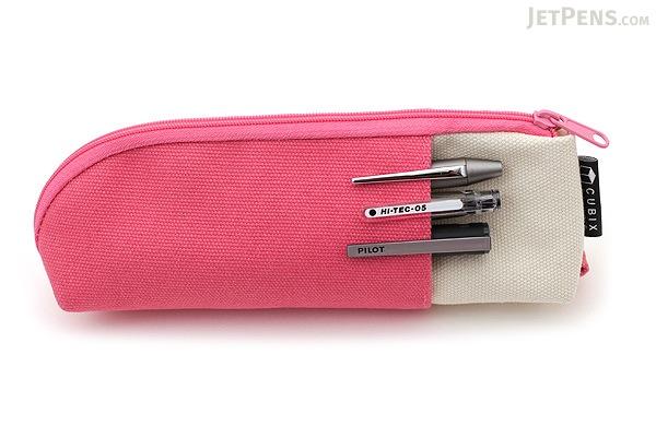 Cubix Two Tone Pen Case - Pink / Ivory - CUBIX 106164-06-80