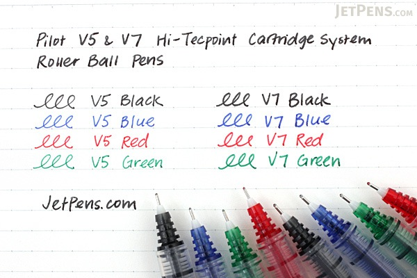Pilot V5 Hi-Tecpoint Cartridge System Rollerball Pen - Fine Point - Blue - PILOT BXC-V5-BGD-L