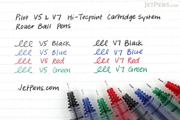 Pilot V7 Hi-Tecpoint Cartridge System Rollerball Pen - Medium Point - Black - PILOT BXC-V7-BGD-B