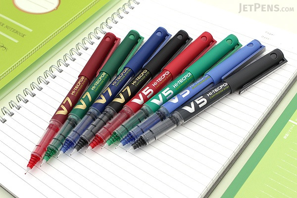 Pilot V7 Hi-Tecpoint Cartridge System Rollerball Pen - Medium Point - Red - PILOT BXC-V7-BGD-R