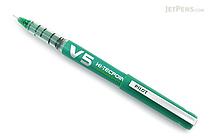 Pilot V5 Hi-Tecpoint Cartridge System Rollerball Pen - Fine Point - Green - PILOT BXC-V5-BGD-G