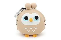 P+G 3D Pochi Friends Owl Case - Beige - P+G 3D POCHI OWL BG