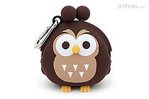 P+G 3D Pochi Friends Owl Case - Brown - P+G 3D POCHI OWL BR