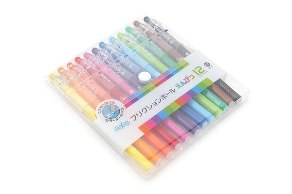 Pilot FriXion Color-Pencil-Like Erasable Gel Pen - 0.7 mm - 12 Color Set - PILOT LFP-156FN-12C