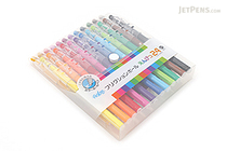Pilot FriXion Color-Pencil-Like Erasable Gel Pen - 0.7 mm - 24 Color Set - PILOT LFP-312FN-24C