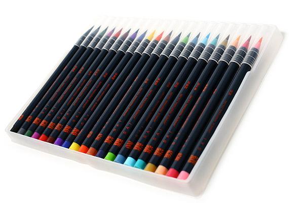 Akashiya Sai Watercolor Brush Pen - 20 Color Set - AKASHIYA CA200-20V