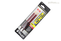 Pilot G2 Gel Pen Refill - 1.0 mm - Red - Pack of 2 - PILOT BG21RRED