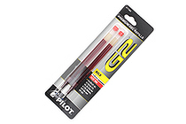 Pilot G-2 Gel Pen Refill - 1.0 mm - Red - Pack of 2 - PILOT 77360