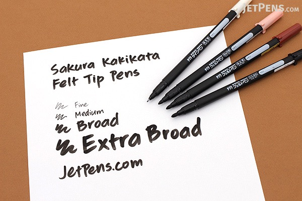 Sakura Kakikata Felt Tip Pen - Medium - SAKURA FK-M