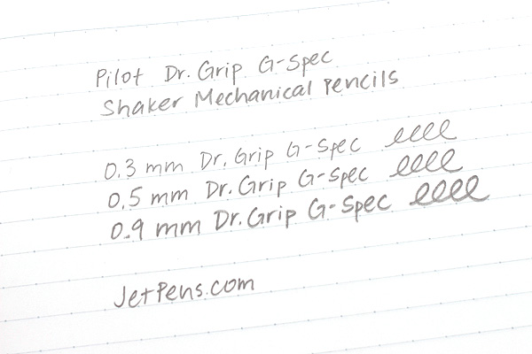 Pilot Dr. Grip G-Spec White Deco Shaker Mechanical Pencil - 0.5 mm - Red Grip - PILOT HDGS-60WR-R5