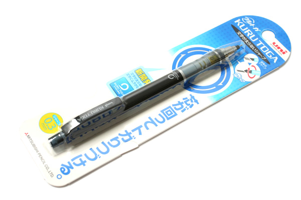 Uni Kuru Toga Auto Lead Rotation Mechanical Pencil - 0.3 mm - Black Body - UNI M34501P.24