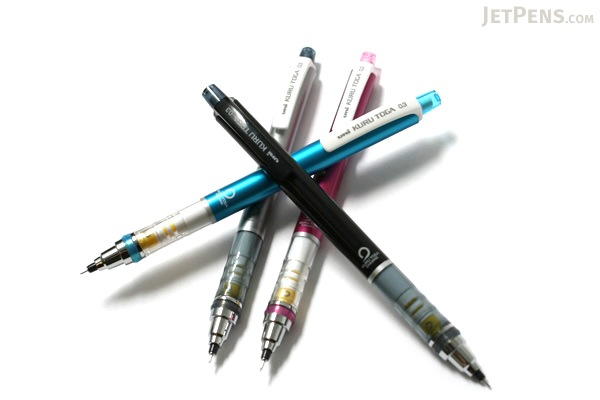Uni Kuru Toga Auto Lead Rotation Mechanical Pencil - 0.3 mm - Pink Body - UNI M34501P.13