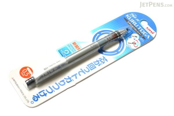 Uni Kuru Toga Auto Lead Rotation Mechanical Pencil - 0.5 mm - Silver Body - UNI M54501P.26
