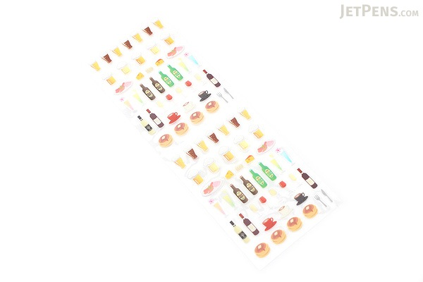 Midori Seal Collection Planner Stickers - Drinks & Cafe - MIDORI 82198-006