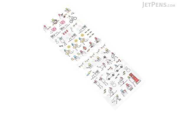 Midori Seal Collection Planner Stickers - Event Ojisan Man - MIDORI 82201-006