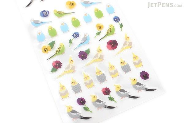 Midori Seal Collection Planner Stickers - Small Parakeet - MIDORI 83001-006