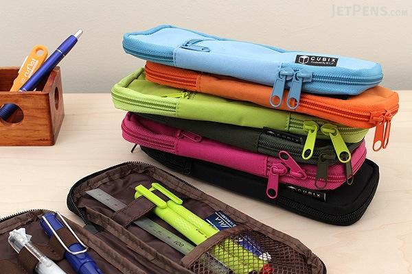 Cubix Round Zip Colored Pen Case - Light Green - CUBIX 106159-26-78