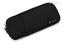 Cubix Round Zip Colored Pen Case - Black - CUBIX 106159-15-78