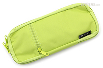 Cubix Round Zip Colored Pen Case - Light Green - CUBIX 106159-26-78