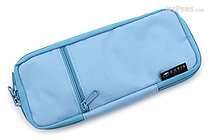 Cubix Round Zip Colored Pen Case - Sky Blue - CUBIX 106159-36-78