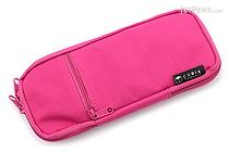 Cubix Round Zip Colored Pen Case - Cherry Pink - CUBIX 106159-41-78