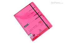 Maruman Sept Couleur Pad Holder with Loose Leaf Notepad - A4 - 7 mm Rule - Pink - MARUMAN PH100-08