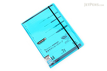 Maruman Sept Couleur Pad Holder with Loose Leaf Notepad - A4 - 7 mm Rule - Light Blue - MARUMAN PH100-52