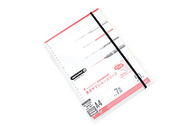 Maruman Sept Couleur Pad Holder with Loose Leaf Notepad - A4 - 7 mm Rule - Clear - MARUMAN PH100-98