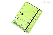 Maruman Sept Couleur Pad Holder with Loose Leaf Notepad - B5 - 6 mm Rule - Green - MARUMAN PH200-03