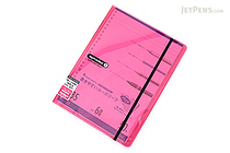 Maruman Sept Couleur Pad Holder with Loose Leaf Notepad - B5 - 6 mm Rule - Pink - MARUMAN PH200-08