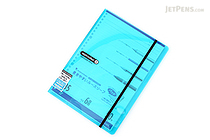 Maruman Sept Couleur Pad Holder with Loose Leaf Notepad - B5 - 6 mm Rule - Light Blue - MARUMAN PH200-52