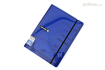 Maruman Sept Couleur Pad Holder with Loose Leaf Notepad - B5 - 6 mm Rule - Navy - MARUMAN PH200-72