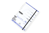 Maruman Sept Couleur Pad Holder with Loose Leaf Notepad - B5 - 6 mm Rule - Clear - MARUMAN PH200-98