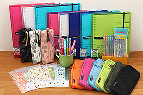 New Products: A Rainbow of Note Pad Holders, Pen Cases, Outline Pens, Mechanical Pencils, Stickers, and More!