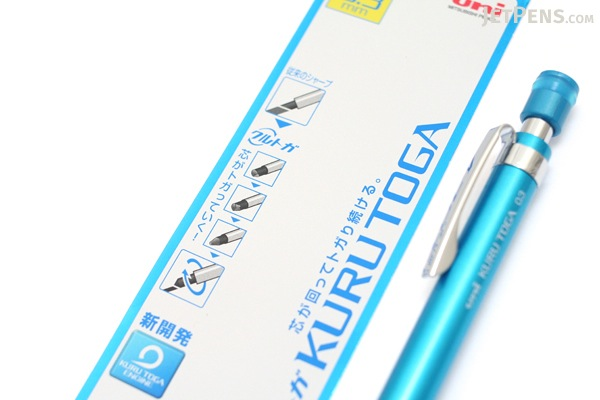 Uni Kuru Toga High Grade Auto Lead Rotation Mechanical Pencil - 0.3 mm - Blue Body - UNI M310121P.33