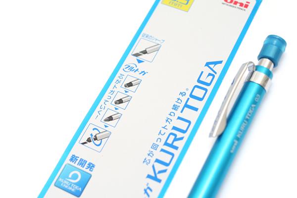Uni Kuru Toga High Grade Auto Lead Rotation Mechanical Pencil - 0.3 mm - Blue Body - UNI M310121P.33