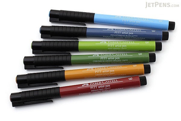 Faber-Castell PITT Artist Pen B Brush - India Ink - Landscape - Set of 6 - FABER-CASTELL FC167105