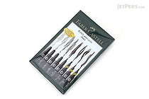 Faber-Castell PITT Artist Pen - India Ink - Black - Set of 8 - FABER-CASTELL FC167137