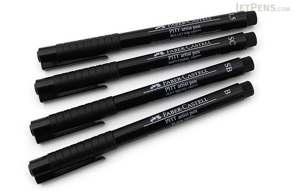 Faber Castell Pitt Artist Pen India Ink Black Set Of